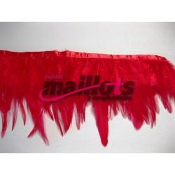 Fleco Plumas Rojo