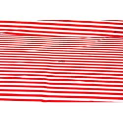 Blanca con raya roja