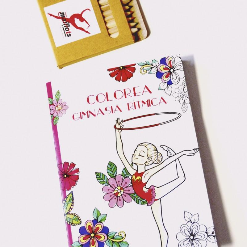 Cuaderno para Colorea Gimnasia Rítmica - Tejidos Maillots