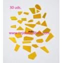 Cristal Topaz Espejo mezcla de formas