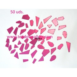 Cristal Rose Espejo mezcla de formas