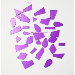 Cristal Morado Espejo Mezcla de Forma