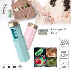 Lámpara de mano UV-C portátil para desinfección 6W