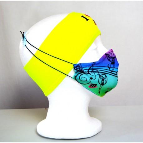 Mascarilla Multicolor Rítmica