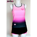 Camiseta Tirantes TM Top integrado Fucsia