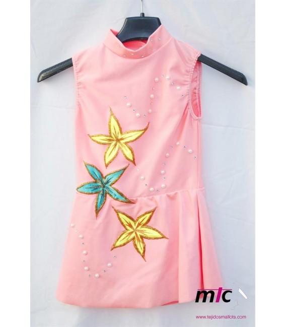 Maillot salmón-estrellas
