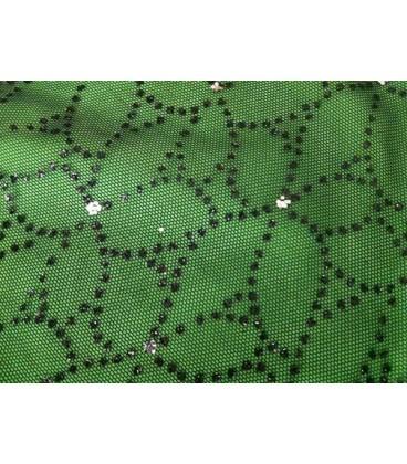 Tul verde brillos verdes